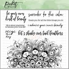 Picket Fence Studios Let's Shake Our Tail Feathers Stamp Set