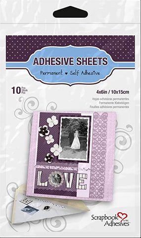 "3L Adhesive Sheets - 10 pcs - 4""x6"""