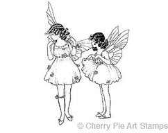 Cherry Pie Stamps - Two Fairies