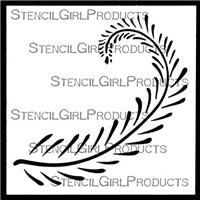 Stencil Girl Fiddlehead Fern Stencil 4x4
