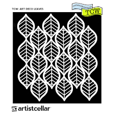 TCW Mini Art Deco Leaves 6x6