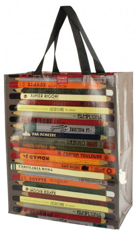 Linnea Vertical Market Tote - Pencils
