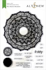 Pen Sketch Mandala Stamp Set