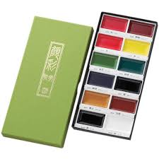 Kuretake Gansai Tambi 12 Colors Set