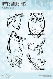Owls and Birds Cling Stamp