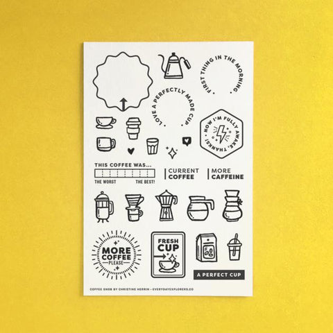 Everyday Explorers Co Coffee Snob - 4x6 Clear Stamp Set