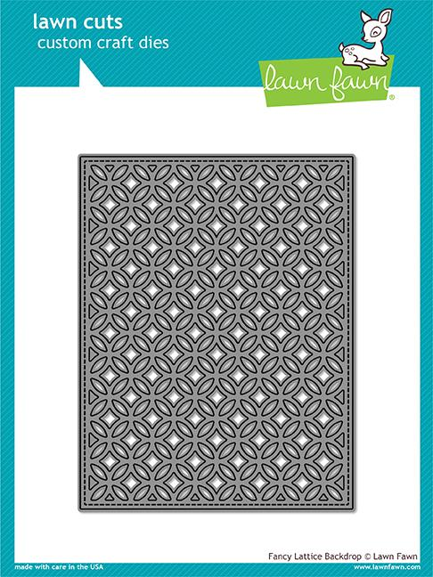 Lawn Fawn Fancy Lattice Backdrop Die