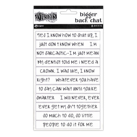Dylusions Bigger Back Chat Stickers - White