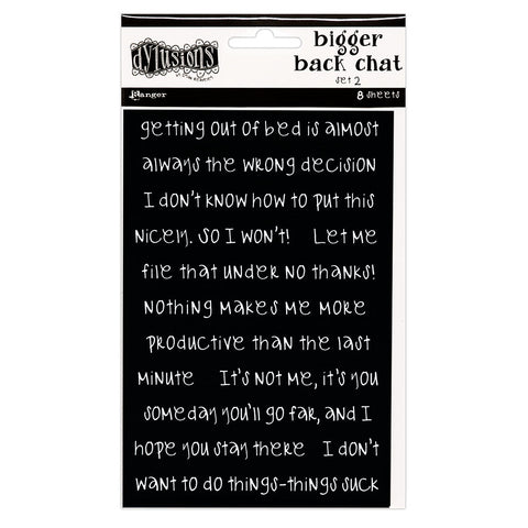 Dylusions Bigger Back Chat Stickers Set 2 - Black