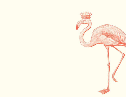 Alexa Pulitzer Note Cards Royal Flamingo