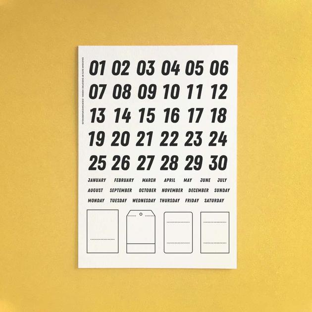 Everyday Explorers Co Calendar Days - 6x8 Clear Stamp Set
