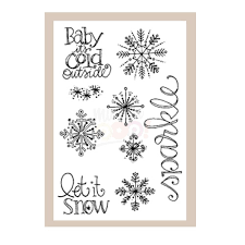 Snowflake Sparkle Cling Stamp