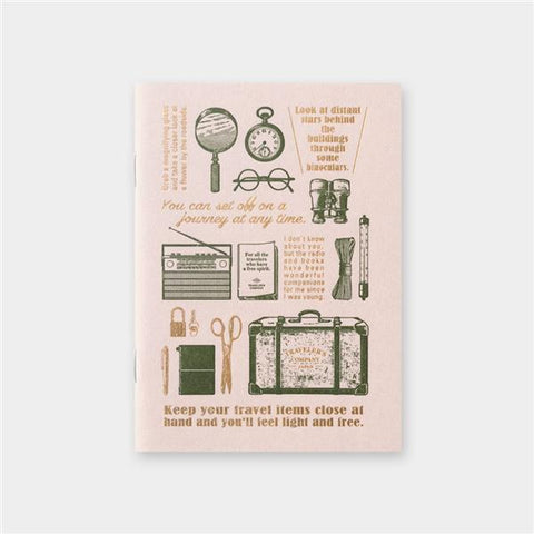 Traveler's Company Refill Passport Size Notebook/Travel Tools - Pink