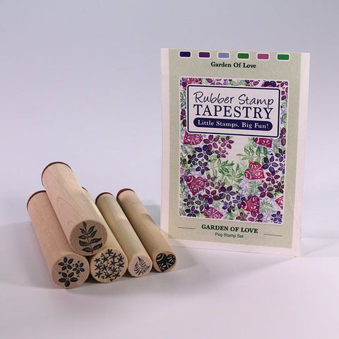 Rubber Stamp Tapestry Garden of Love Peg Stamp Set