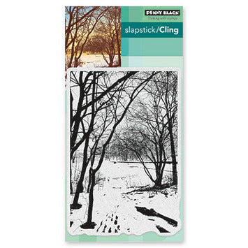 Penny Black Wintry Trail Cling Rubber Stamp
