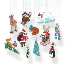 Pop Out Christmas Decorations - Chalet Snow