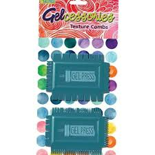 Gel Press Gelcessories Texture Combs pk 2