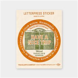 Traveler's Company Letterpress Sticker/Travel Tools - Red