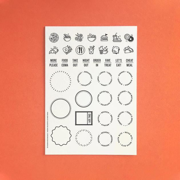 Everyday Explorers Co Food Coma - 6x8 Clear Stamp Set