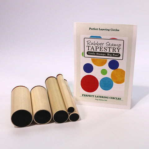 Rubber Stamp Tapestry Perfect Layering Circles Peg Stamp Set
