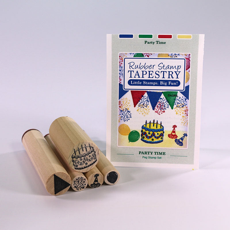 Rubber Stamp Tapestry Party Time Peg Stamp Set