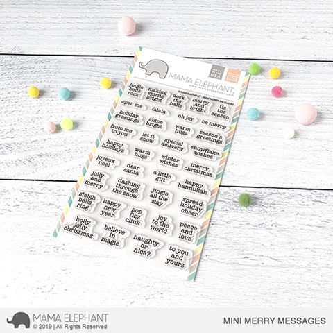 Mama E Mini Merry Messages Clear Stamps