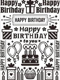 Darice Birthday Collage Embossing Folder