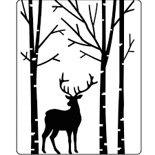 Darice Deer in Forest Embossing Folder