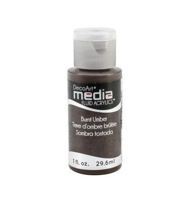 DecoArt Media Fluid Acrylics - Burnt Umber