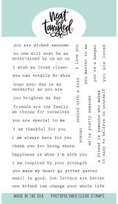 Neat & Tangled Typed Sentiments