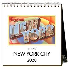2020 Easel Desk Calendar: New York City