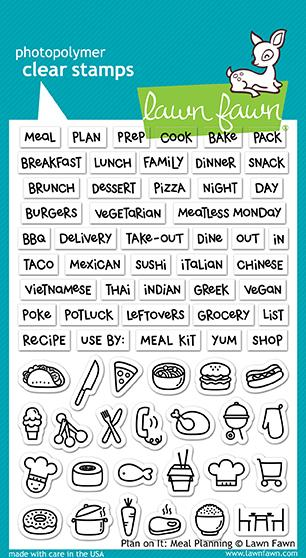 Lawn Fawn Plan On it Meal Planning Stamps