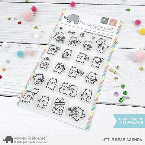 Mama E Little Bear Agenda Clear Stamps