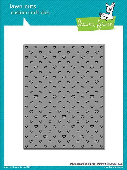 Lawn Fawn Polka Heart Backdrop Portrait Die