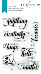 Fancy Greetings Stamp Set