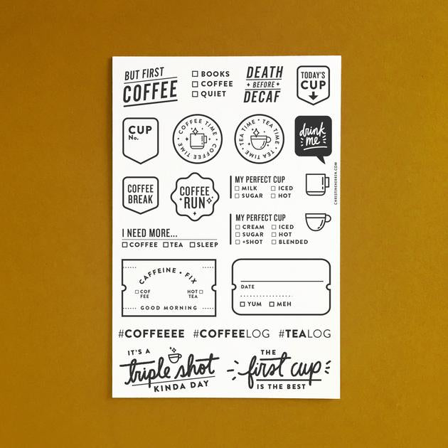 Everyday Explorers Co Caffeine Fix - 4x6 Clear Stamp Set