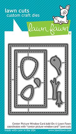 Custom Craft Dies Center Picture Window Card Add-On