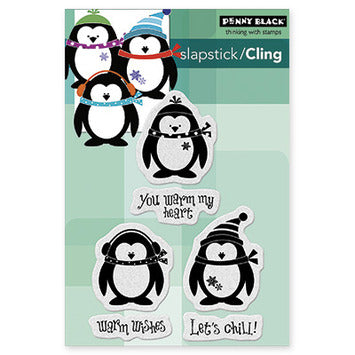 Penny Black Let's Chill Cling Rubber Stamp
