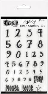 Dylusions Dyalog Clear Stamps - Numerology
