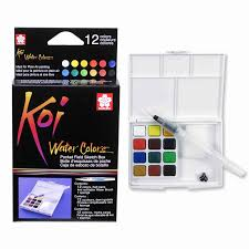 Koi® Water Colors™ Pocket Field Sketch Box, 24 Colors