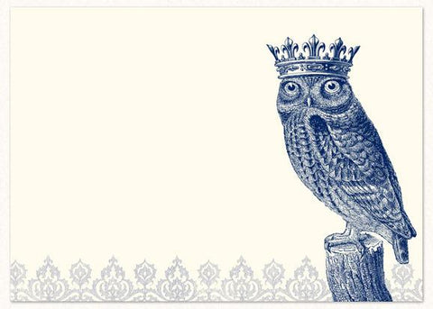 Alexa Pulitzer Royal Owl A7 Note Cards - 10pk