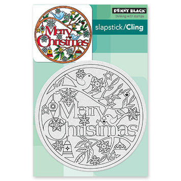 Penny Black Christmas in the Round Cling Rubber Stamp