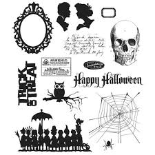 Tim Holtz Cling Stamp Set Mini Halloween 3