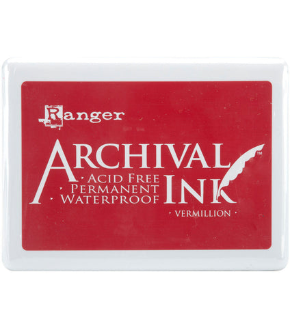 Archival Jumbo Ink Pad VERMILLION