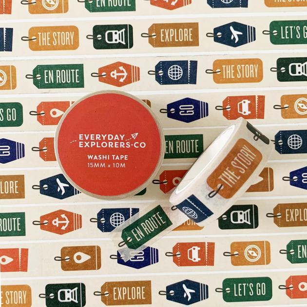 Everyday Explorers Co Travel Tags - Washi Tape