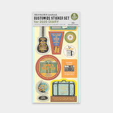 Traveler's Company Customized Sticker Set For Diary 2020