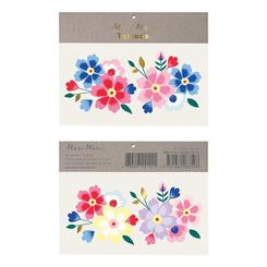 Bright Floral Temporary Tattoos