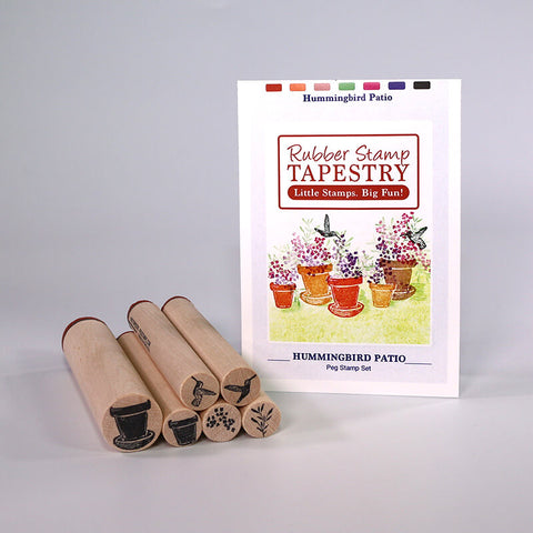 Rubber Stamp Tapestry Hummingbird Patio Peg Stamp Set
