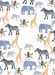 Rubber Stamp Tapestry African Zoo Animals