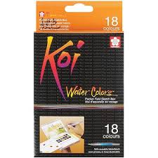 Koi® Water Colors™ Pocket Field Sketch Box, 18 Colors
